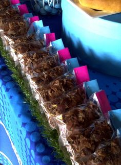 Biltong Packets Biltong, 18th Birthday Party, Rugby, Blue, Party Ideas, Food, Wedding Ideas, Essen, Ideas Party