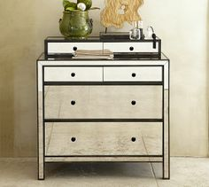 Marnie Mirrored Dresser | Pottery Barn 1906.68  This would be perfect for the hallway nook upstairs!! Why is it so pricey!??!