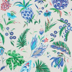 Bring tropical charm to your home with this Habanera wallpaper from Matthew…