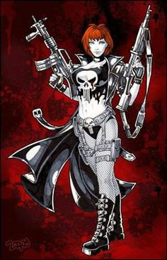 The Punisher Castle) by Candra Marvel 3, Punisher Marvel, Marvel Girls, Marvel Women, Comics Girls, Marvel Universe, Marvel Characters, Cartoon Characters, Comic Character