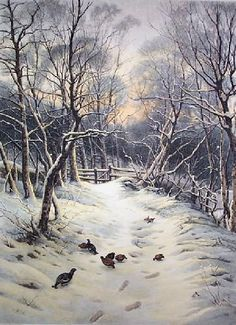 Snowy Garb of Sleeping Earth (Restrike Etching) Etching by Joseph Farquharson - WorldGallery.co.uk