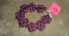 Violet black bronze color Camelot bracelet by celticrayne on Etsy, $10 ...