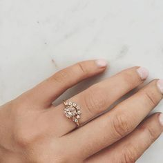 Newly added #louisejeanfine style in our Ceremonial range. The Morganite Crown Ring ✨ Featuring a 6mm Morganite with crown of 7 diamonds. Online now under the 'Louise Jean Fine' tab . Can't wait to share all the goodness I've been working on! Coming soon...