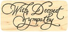 """{Single Count} Unique & Custom (4"""" by 2"""" Inches) """"With Deepest Sympathy Text"""" Rectangle Shaped Genuine Wood Mounted Rubber Inking Stamp mySimple Products http://www.amazon.com/dp/B015YA43A8/ref=cm_sw_r_pi_dp_7vvMwb06BZXG8"""