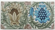 A William De Morgan Sand's End Pottery tile - by Woolley & Wallis