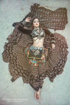 The beautiful and talented Olga - ATS® Kazakhstan - I like the print material on the skirt