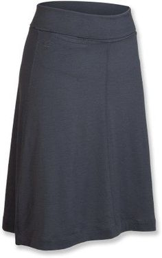 Icebreaker Maya Skirt. Hits just below the knees, helping you stay cool and modest.