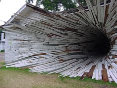 Closer view of The Tunnel: Hole house of Texas.  The structure is an after effect of a dreadful natural calamity. The building was one of the major tourist attractions of Texas in the United States of America. It looked like a piece of art created by god himself. Though the tornado was a dreadful calamity it left a master of art piece behind.