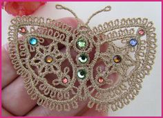 Faux Tatting by Murphy's Designs Machine embroidery - by Murphy's Designs; not tatting; just for ideas.