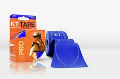 KT TAPE PRO, Pre-cut, 20 Strip, Synthetic, Sonic Blue support water proof  #KT