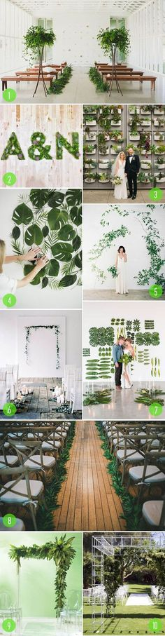 Top ten greenery and plant wedding decorations
