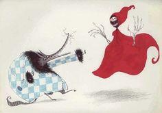 Little Dead Riding Hood. One of my Favorite Tim Burton Drawings.