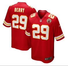 Men's Kansas City Chiefs #29 Eric Berry Red Stitched Nike NFL Color Rush Limited Jersey