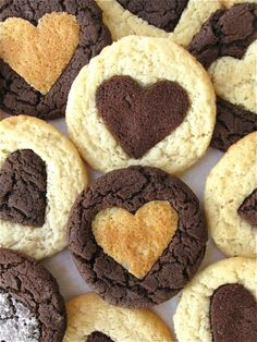 Heart of Gold Heart of Darkness Cookies from King Arthur Flour.