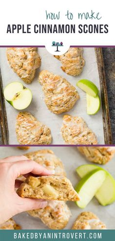 The very best apple cinnamon scones you will ever try. They are airy, crumbly without being dry, and loaded with flavor. Best Apple Desserts, Apple Recipes, Baking Recipes, Scone Recipes, Baking Ideas, Bread Recipes, Brunch Recipes, Easy Dinner Recipes, Breakfast Recipes