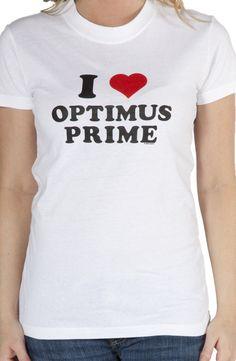 I Heart Optimus Prime Transformers T-Shirt