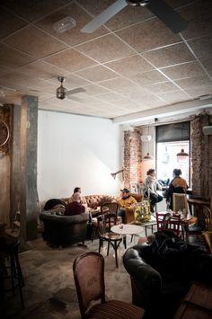 Cafe La Bicicleta - Malasaña Another nice hipstery cafe, uses good coffee, open late, free WiFi