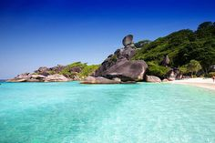 There are a few destinations in Thailand that can be really called 'Paradise on Earth' and one of these is the Similan Islands. Simply the best snorkeling destination in the Kingdom, these inhabited islands form an area of great natural beauty. Best Snorkeling, Best Scuba Diving, Phuket, Khao Lak, Paradise On Earth, Round Trip, White Sand Beach, Beautiful Islands, Marine Life