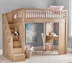 Home Interior Loft .Home Interior Loft Bunk Beds With Stairs, Kids Bunk Beds, Low Loft Beds, Stairs For Loft, Queen Loft Beds, Loft Bunk Beds, Bedroom Loft, Bedroom Decor, Bedroom Ideas