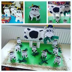 Cow bulletin board idea for kids Crafts,Actvities and Worksheets for Preschool,Toddler and Kindergarten Lots of free preschool crafts and worksheets for preschoolers,teachers and parents. This Pin was discovered by Ber Farm Theme Crafts, Farm Animal Crafts, Animal Crafts For Kids, Animal Projects, Toddler Crafts, Farm Animals, Art For Kids, Paper Cup Crafts, Cow Craft