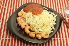 Креветки & спагетти
