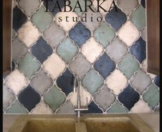 Moroccan Inspired tile available at Fractured Earth. This is by far one of my faves and one of my many obsessions in our showroom.