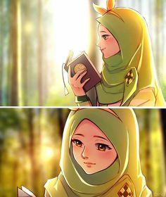 Girls Cartoon Art, Anime Wallpaper Live, Islamic Art, Muslim Character, Cartoon Wallpaper, Anime Muslim, Cute Cartoon Wallpapers, Anime Drawings, Islamic Artwork