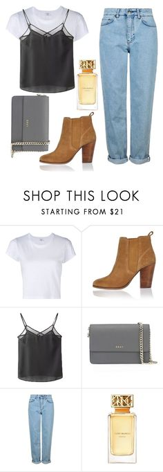 """""""Untitled #164"""" by amandine-anina ❤ liked on Polyvore featuring RE/DONE, River Island, WithChic, DKNY, Topshop and Tory Burch"""