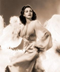 1940s actress Maria Montez in glamour negligee