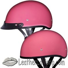 ee23d99ffc6 DOT Skull Cap Motorcycle Helmet in High Gloss Pink - SKU LL-D1-D-DNS-DH
