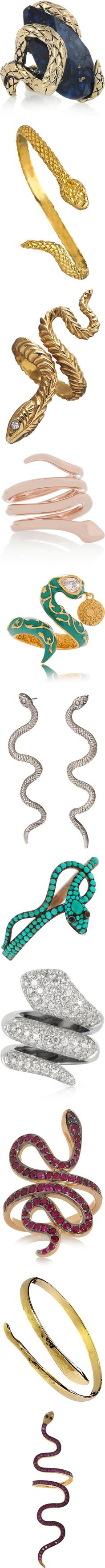 """""""Bling It On: Snake Jewelry"""" by polyvore-editorial ❤ liked on Polyvore"""