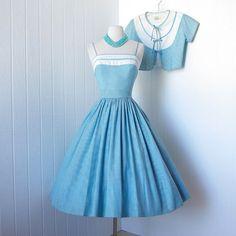 vintage 1950's dress ...fabulous designer PAT PREMO by traven7