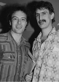 Jello Biafra (of Dead Kennedy's Fame) with Frank Zappa.