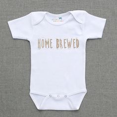 Home Brewed Baby, Infant, Toddler, Newborn Bodysuit, Outfit on Etsy, $16.00