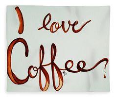 I Love Coffee Fleece Blanket x by Lkb Art And Photography. Guest Bedroom Decor, Master Bedroom Design, Guest Bedrooms, Blankets For Sale, Soft Blankets, Holiday Gift Guide, Holiday Gifts, I Love Coffee