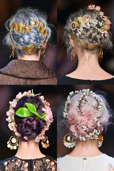 Beauty & the bride: Spring & Summer flower crowns #wedding #hair