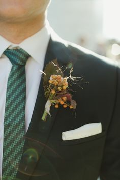 Earth-Tone Boutonniere and White Pocket Square Groomsmen Fashion, Groom And Groomsmen Style, Be My Groomsman, Wedding Goals, Wedding Story, Wedding Ideas, Wedding Groom, Boho Wedding, Masculine Wedding