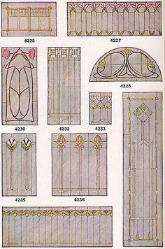 Universal Millwork catalog 1920    Bungalow Art Glass