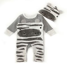39943b0117aed 2PCS Baby Girls Clothes Cute Cartoon Animal Newborn Jumpsuits Ropa Bebes  Baby Boy Girl Clothing Set Romper+Hat-in Clothing Sets from Mother   Kids  on ...