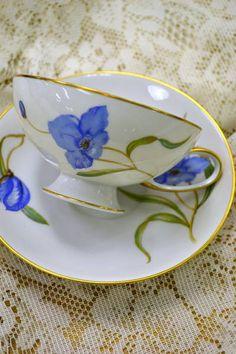Rosenthal Blue Floral Tea Cup