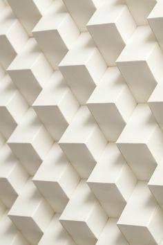 Mur blanc géométrie
