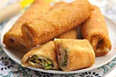 Rotolini di pane con zucchine prosciutto e formaggio