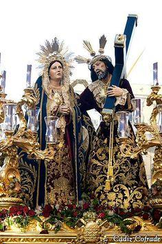 Ntro. Padre Jesús de los Afligidos, obra de Peter Sterling en el año 1727 por encargo de la Hermandad de dicha advocación. Iglesia de San Lorenzo, Cádiz.