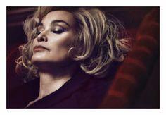 Jessica Lange. Foto von David Sims für Marc Jacobs Beauty