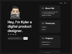 Kyler Phillips - www.kyler.design Web Design, Interface Design, Marketing Tools, Personal Branding, Website Ideas, Ui Ux, Digital, Projects, Scale