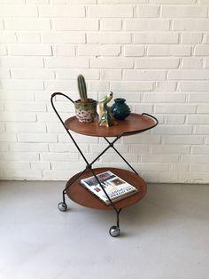Vintage Teewagen Teak, Servierwagen Sweden, Mid Century Beistelltisch, Skandinavien Design, Servierwagen Sweden, Tabletttisch von moovi auf Etsy