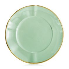 paired with white and gold I Anna Weatherly - Anna Colors Mint Green Salad/Dessert Plate