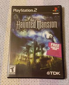 Sony Playstation 2 Disney The Haunted Mansion Complete w/ Manual Black Label Playstation 2, Haunted Mansion, Sony, Manual, Video Games, Label, Teen, Mansions, Disney