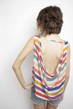 Sway Chic Candy-Striped Knit Tank