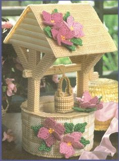 wishing well plastic canvas pattern - this is just incredible